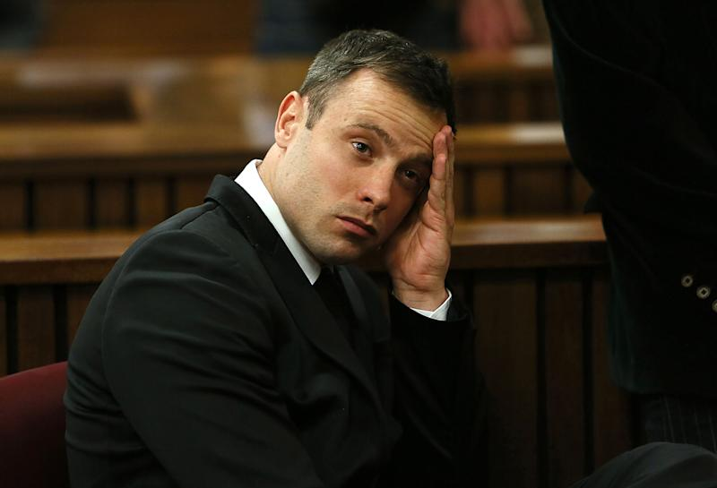 BY COURT ORDER, THIS IMAGE IS FREE TO USE. PRETORIA, SOUTH AFRICA - OCTOBER 16 (SOUTH AFRICA OUT): Oscar Pistorius attends his sentencing hearing in the Pretoria High Court on October 16, 2014, in Pretoria, South Africa. Judge Thokozile Masipa found Pistorius not guilty of murdering his girlfriend Reeva Steenkamp, but convicted him of culpable homicide. Sentencing continues today. (Photo by Alon Skuy/The Times/Gallo Images/Getty Images)