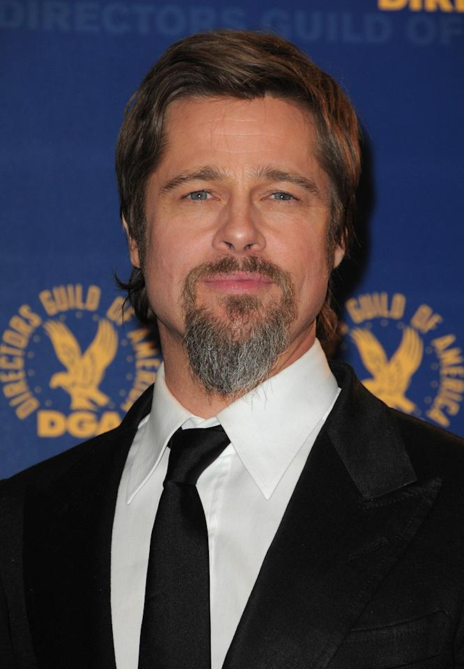 """<a href=""""http://movies.yahoo.com/movie/contributor/1800018965"""">Brad Pitt</a> at the 62nd Annual Directors Guild of America Awards in Century City, California on January 30, 2010."""