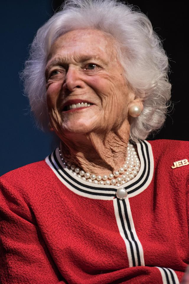 Barbara Bush, pictured in 2016, died Tuesday at age 92. (Photo: Sean Rayford/Getty Images)