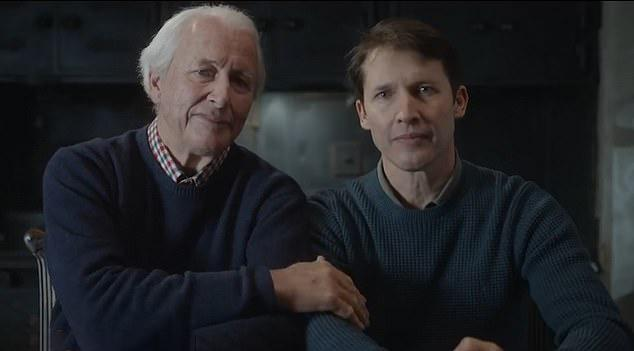 James Blunt appears with his dad, Charles in the video. Photo: Youtube