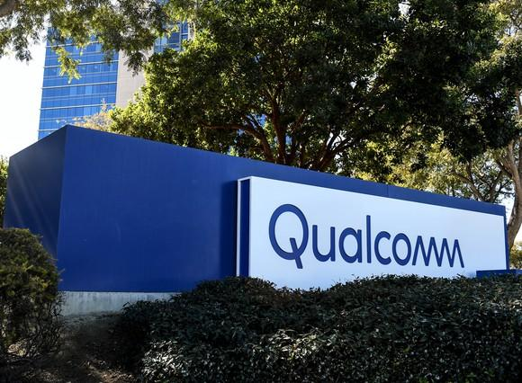 Sign outside of Qualcomm headquarters