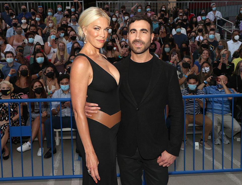 """WEST HOLLYWOOD, CALIFORNIA - JULY 15: (L-R) Hannah Waddingham and Brett Goldstein attend Apple's """"Ted Lasso"""" season two premiere at Pacific Design Center on July 15, 2021"""