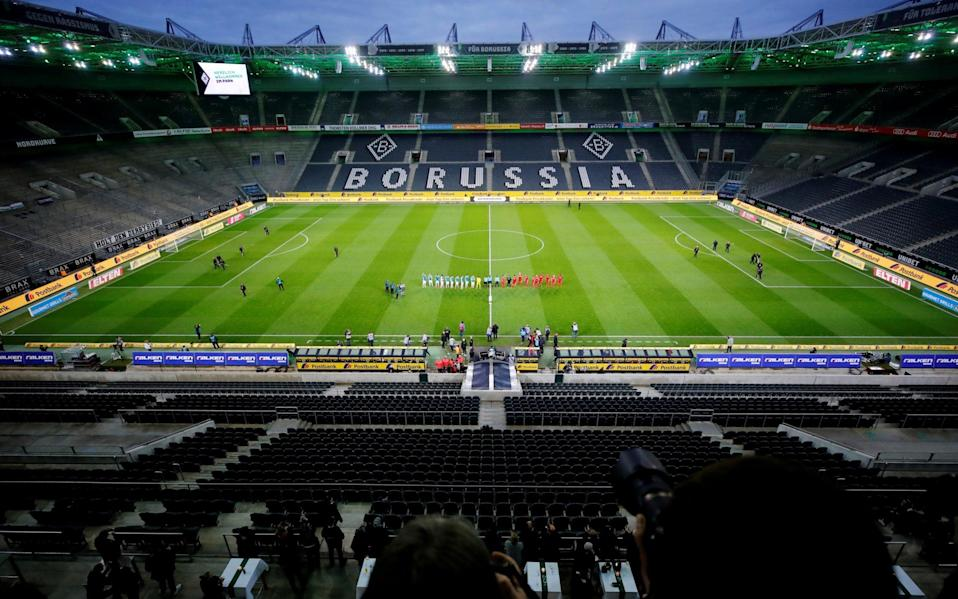 General view of an empty Borussia-Park -Germany extends ban on Bundesliga crowds in blow to British spectators' hopes of October stadium return - REUTERS