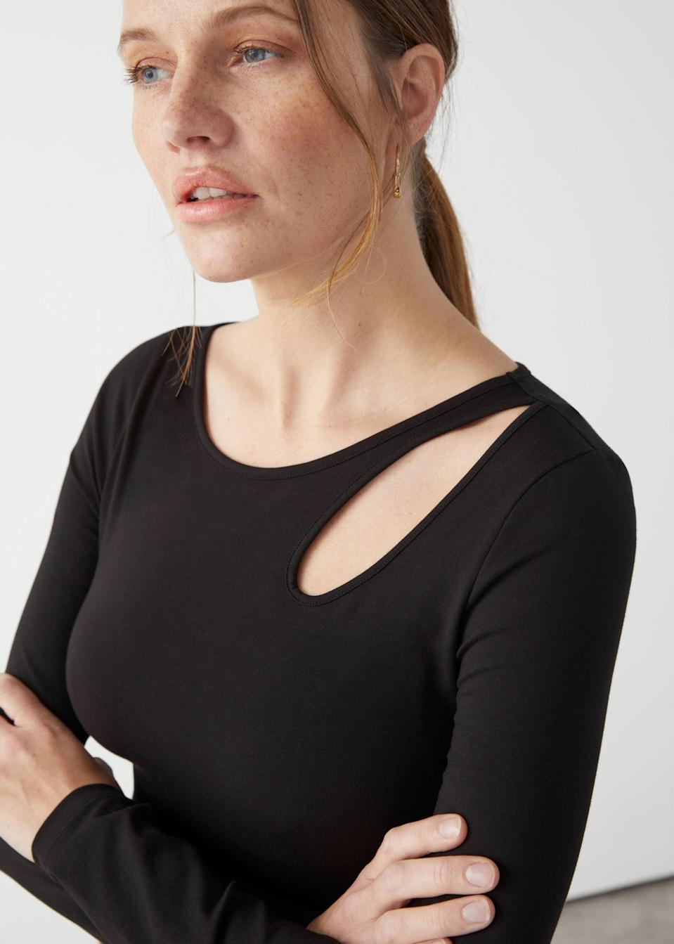 <p>The cutouts of this <span>Long Sleeve Bodysuit</span> ($49) make it so sexy.</p>