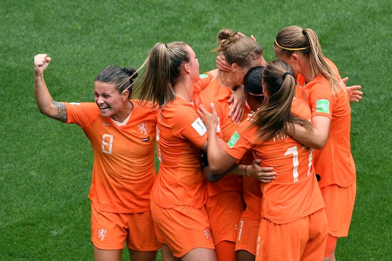 The Netherlands are through to the last 16 of the women's World Cup after their 3-1 victory over Cameroon in Valenciennes (AFP Photo/Philippe HUGUEN)