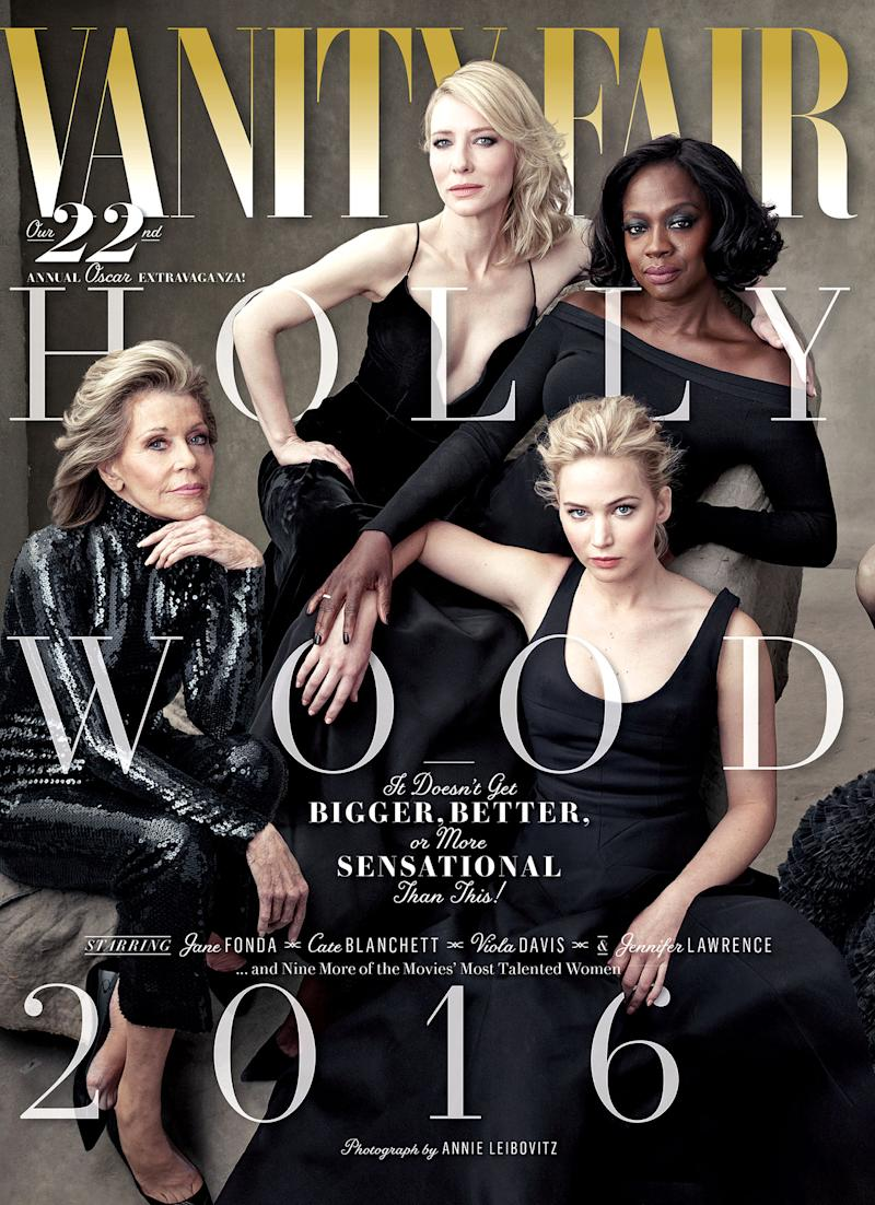 Vanity Fairs 2016 Hollywood Issue Includes Jennifer Lawrence Viola Davis Jane Fonda See The Cover Here
