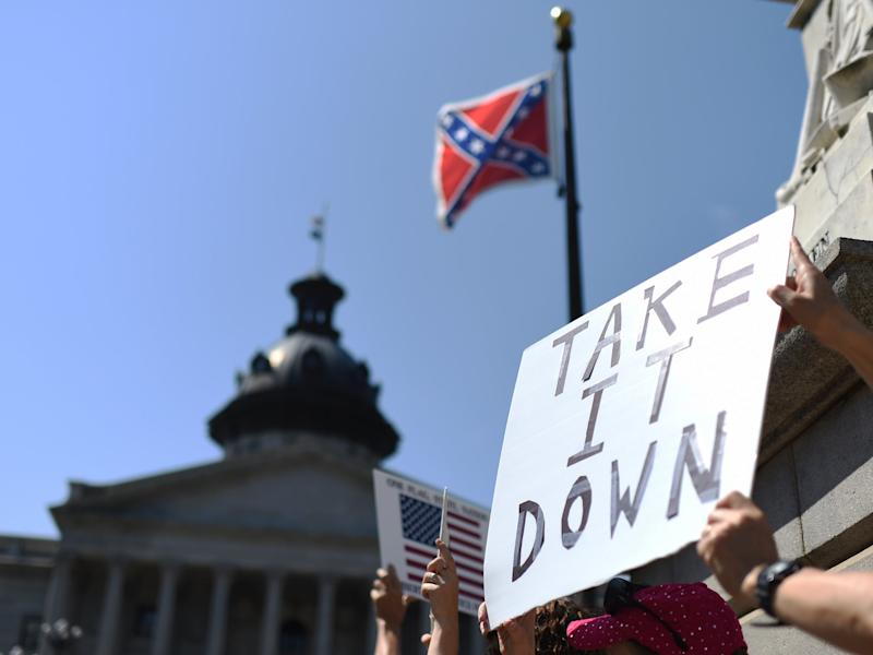 A 115-year-old monument of a Confederate officer was removed in Alabama. (Getty Images)