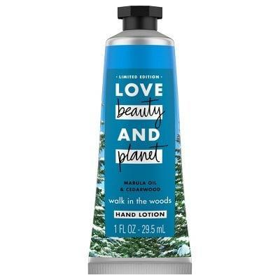 <p>The <span>Love Beauty and Planet Marula Oil and Cedar Wood Hand Lotion</span> ($5) is small enough to toss in a bag for moisturizing hands whenever dry skin strikes. </p>