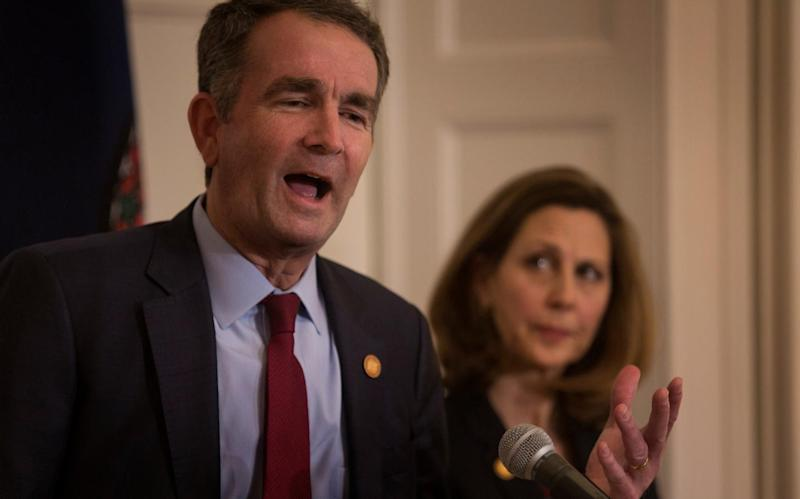 Embattled Virginia Governor Ralph Northam refuses to resign before attending police funeral
