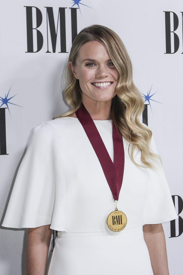 Nicolle Galyon arrives at 67th Annual BMI Country Awards ceremony at BMI Music Row offices on Tuesday, November 12, 2019, in Nashville, Tenn. - Credit: Al Wagner/Invision/AP