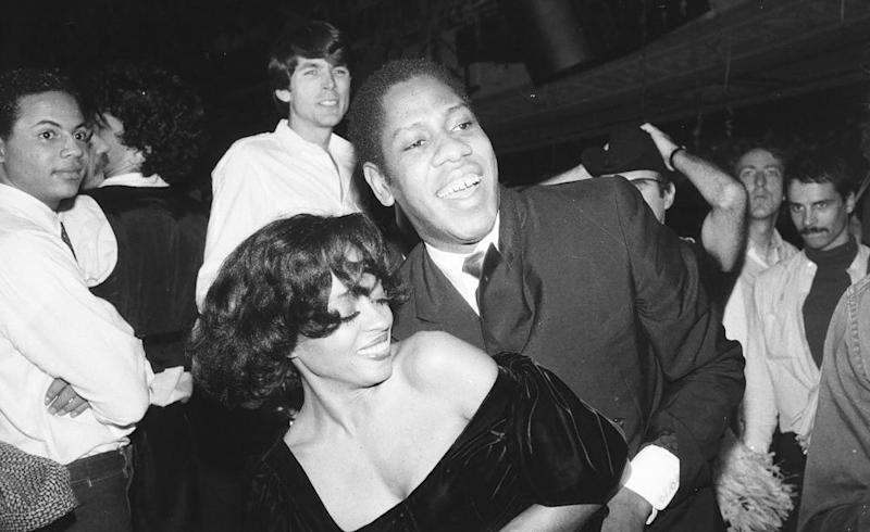 Diana Ross and US Vogue editor-at-large Andre Leon Talley dancing at Studio 54, c 1979 in New York City.