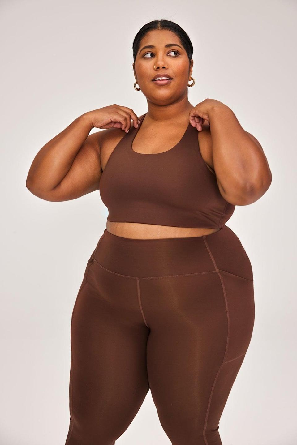 <p>I'll admit it, I'm motivated by workout clothes. The fabric of this <span>Girlfriend Collective Simone Bra</span> ($48) and <span>Compressive High-Rise Legging</span> ($68) is so soft but also breathable and moisture wicking. Plus, I'm obsessed with the brown shade.</p>