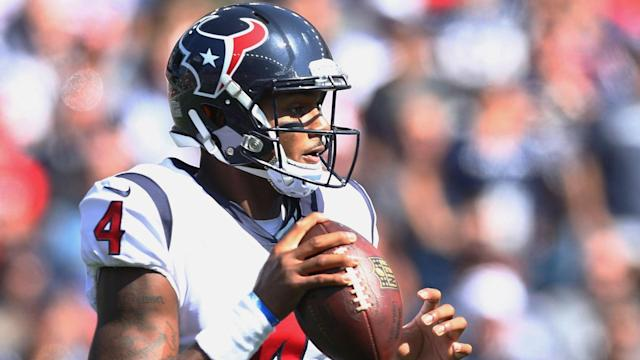 Deshaun Watson suffered a chest injury last week but he is set to face the Buffalo Bills on Sunday.