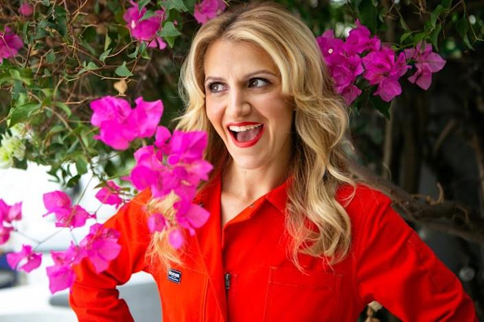 """LOS ANGELES, CA - SEPTEMBER 18: Actress Annaleigh Ashford poses for a portrait at her home in Los Angeles on Saturday, Sept. 18, 2021 in Los Angeles, CA. Ashford is part of an all-star cast in her roll as Paula Jones in """"Impeachment: American Crime Story."""" (Jason Armond / Los Angeles Times)"""