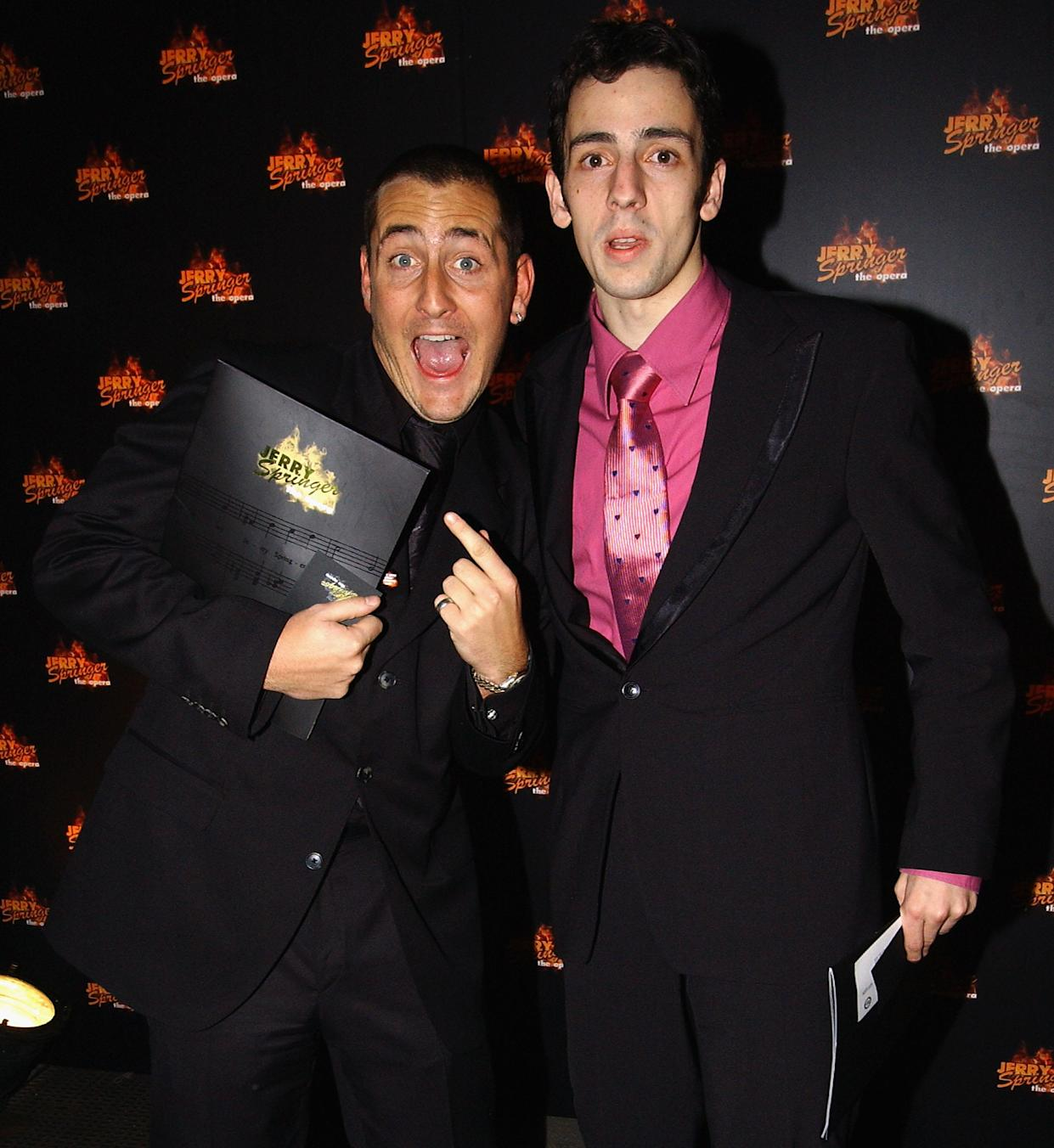 LONDON - NOVEMBER 10:  Will Mellor and Ralf Little attend a party for the West End press night for the Musical