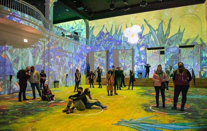 Step into famous works of art at the Immersive Van Gogh exhibit.
