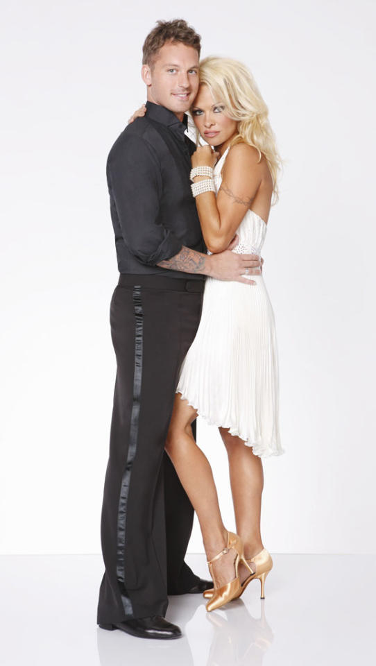 """Pamela Anderson will be dancing with Tristan MacManus this fall on ABC's """"Dancing With the Stars: All-Stars,"""" premiering September 24."""