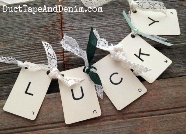 """<p>The secret to this snazzy St. Patrick's Day garland is vintage playing cards and bits of lace and ribbon. </p><p><strong>Get the tutorial at <a href=""""https://ducttapeanddenim.com/lucky-vintage-playing-card-garland/"""" rel=""""nofollow noopener"""" target=""""_blank"""" data-ylk=""""slk:Duct Tape and Denim"""" class=""""link rapid-noclick-resp"""">Duct Tape and Denim</a>.</strong></p><p><a class=""""link rapid-noclick-resp"""" href=""""https://go.redirectingat.com?id=74968X1596630&url=https%3A%2F%2Fwww.walmart.com%2Fsearch%2F%3Fquery%3Dlace&sref=https%3A%2F%2Fwww.thepioneerwoman.com%2Fhome-lifestyle%2Fcrafts-diy%2Fg34931626%2Fst-patricks-day-decorations%2F"""" rel=""""nofollow noopener"""" target=""""_blank"""" data-ylk=""""slk:SHOP LACE"""">SHOP LACE</a><br></p>"""