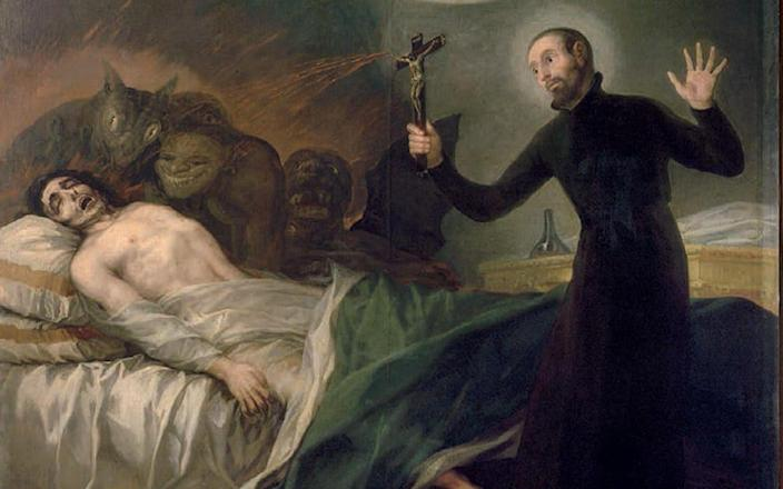 Francisco Goya's 1795 painting St. Francis Borgia Helping a Dying Impenitent - www.alamy.com
