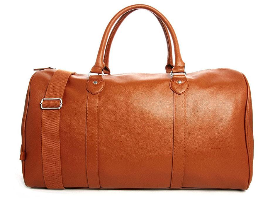 P Asos Smart Holdall In Tan Faux Leather Bag