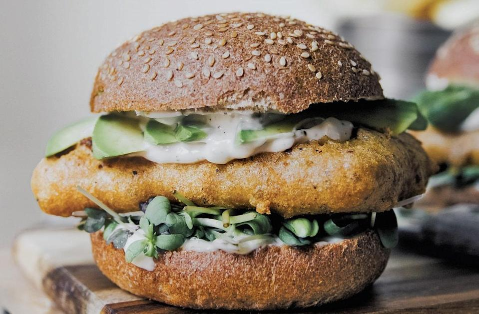 """<p>This recipe takes inspiration from Filet-o-Fish (another favorite at McDonalds) but it calls for frying the tempeh and lathering sesame buns with vegan homemade tartar sauce instead of using whitefish and mayo. It's one of many <a href=""""https://www.thedailymeal.com/cook/7-easy-recipes-help-you-go-vegan-slideshow?referrer=yahoo&category=beauty_food&include_utm=1&utm_medium=referral&utm_source=yahoo&utm_campaign=feed"""" rel=""""nofollow noopener"""" target=""""_blank"""" data-ylk=""""slk:great plant-based dishes you can easily make at home"""" class=""""link rapid-noclick-resp"""">great plant-based dishes you can easily make at home</a>.</p> <p><a href=""""https://www.thedailymeal.com/best-recipes/filet-o-tempeh-sandwiches?referrer=yahoo&category=beauty_food&include_utm=1&utm_medium=referral&utm_source=yahoo&utm_campaign=feed"""" rel=""""nofollow noopener"""" target=""""_blank"""" data-ylk=""""slk:For the Filet o' Tempeh recipe, click here."""" class=""""link rapid-noclick-resp"""">For the Filet o' Tempeh recipe, click here.</a></p>"""