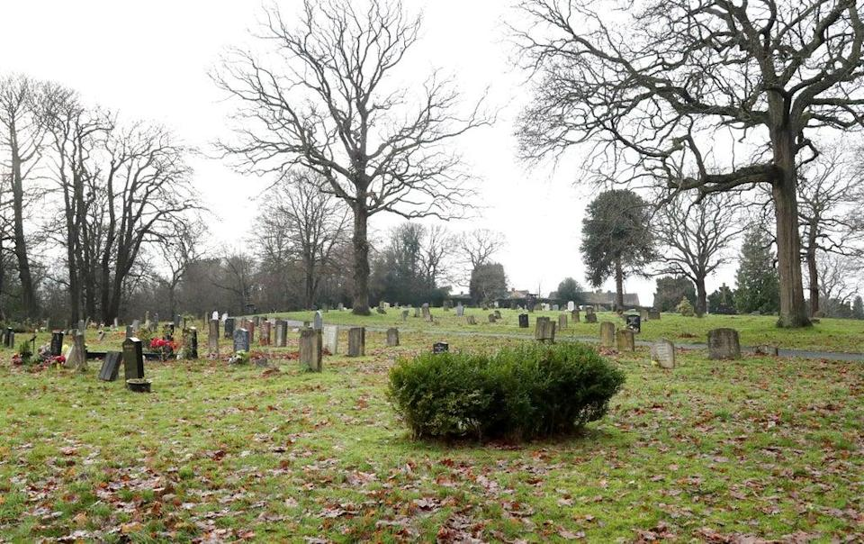 The area in Haywards Heath Cemetery, West Sussex, where a headless and handless body known as the Bolney Torso was buried (Gareth Fuller/PA) (PA Archive)