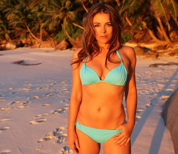19ffbf5be5f Elizabeth Hurley is still posing for bikini photos at 52. (Photo:  Instagram/elizabethhurley1)