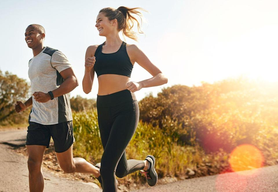 <p>Break a sweat — and prove who's the real athlete — by running a race together. To enjoy even more quality time, plan regular training sessions beforehand to be sure you're both ready to go on the big day. </p>
