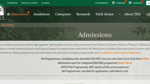 TISSNET 2019 results declared for MA programs, here's how to check scorecard, cut-off