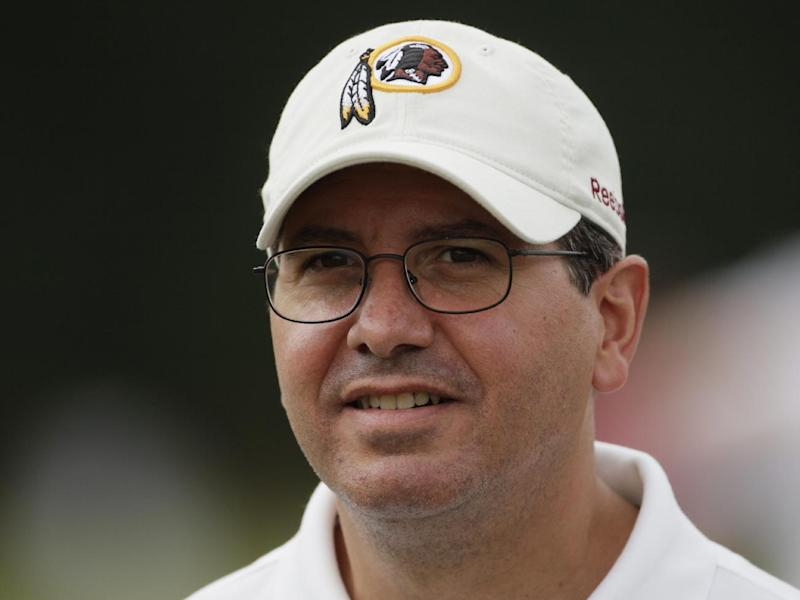 Washington Redskins owner Dan Snyder attends a workout at the NFL football team's training camp at Redskins Park,  Tuesday, Aug. 3, 2010, in Ashburn, {Va}