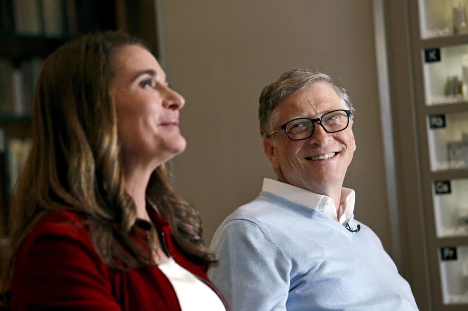 Bill Gates y Melinda durante una entrevista en febrero de 2019. (AP Photo/Elaine Thompson)