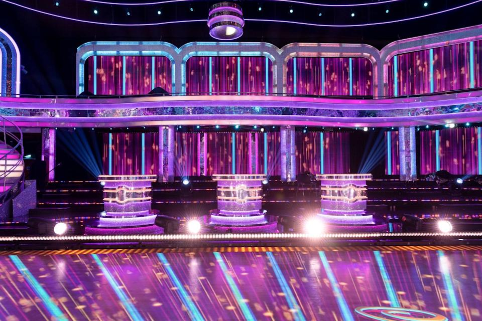 The judges will sit apart on sparkling podiums (PA)