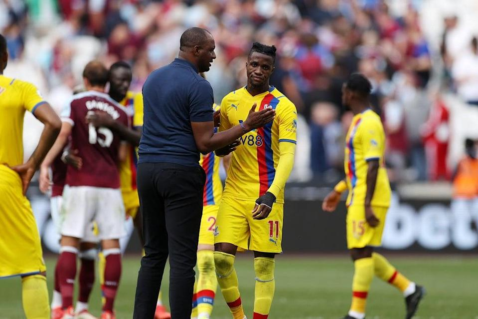 Patrick Vieira has challenged Wilfried Zaha to become more consistent (Getty Images)
