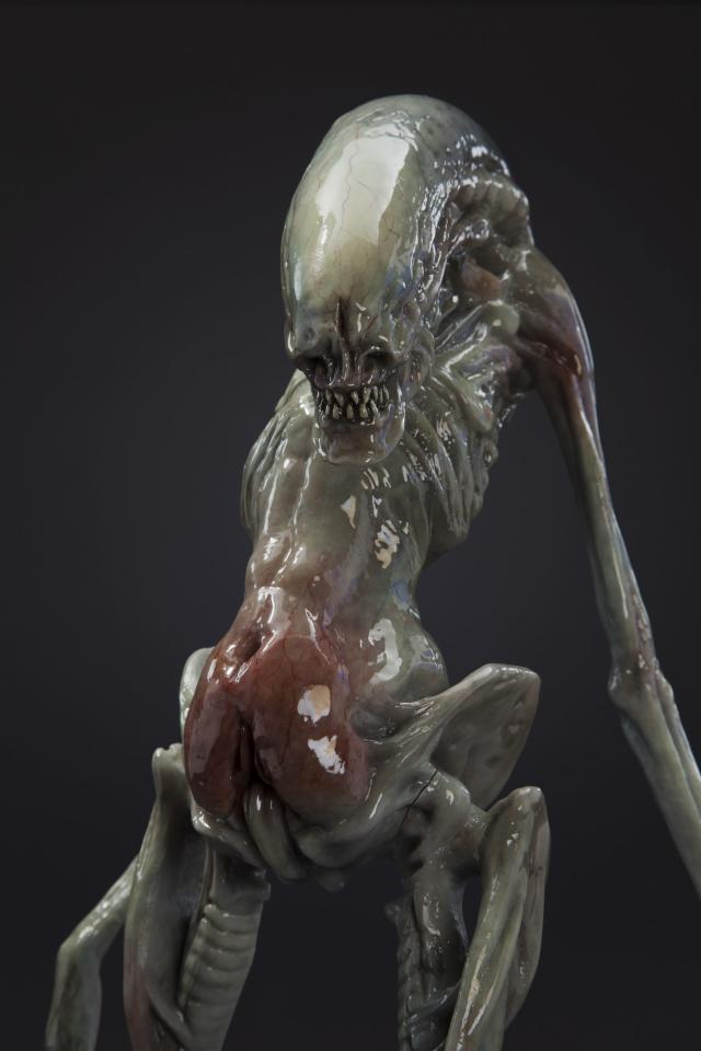 The newborn alien full-body design maquette from <em>Alien: Resurrection</em> (Photo: studioADI)