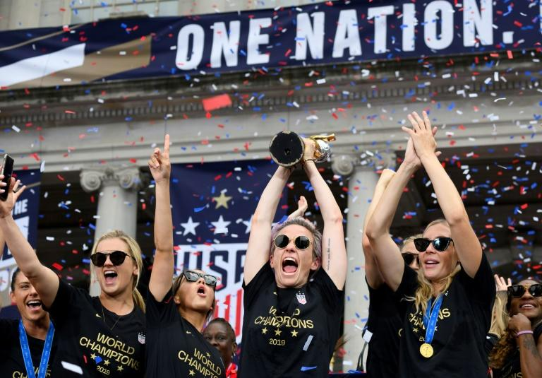 P&G said it was donating $23,000 to each of the 23 players who helped the US win a record-extending fourth World Cup title in France