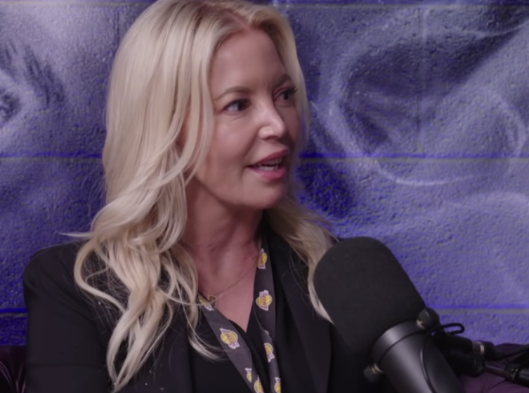 Jeanie Buss speaks in an interview with the All the Smoke podcast.