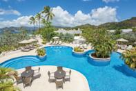 """<p><strong>Best for:</strong> Families where lazing around is a priority</p> <p>Grenada's nickname, Spice Isle, is the inspiration for the name of this clean-lined <a href=""""https://www.cntraveler.com/hotels/grenada/st--george-s/spice-island-beach-resort--grenada?mbid=synd_yahoo_rss"""" rel=""""nofollow noopener"""" target=""""_blank"""" data-ylk=""""slk:beach resort"""" class=""""link rapid-noclick-resp"""">beach resort</a>, which sits on the yellow sands of the island's Golden Anse Beach. In the <a href=""""https://www.cntraveler.com/story/a-guide-to-the-caribbean-islands-reopening-this-summer?mbid=synd_yahoo_rss"""" rel=""""nofollow noopener"""" target=""""_blank"""" data-ylk=""""slk:Caribbean"""" class=""""link rapid-noclick-resp"""">Caribbean</a>, where many resorts are <a href=""""https://www.cntraveler.com/galleries/2015-02-06/best-adults-only-all-inclusive-resorts-readers-choice-awards-2014?mbid=synd_yahoo_rss"""" rel=""""nofollow noopener"""" target=""""_blank"""" data-ylk=""""slk:adults-only"""" class=""""link rapid-noclick-resp"""">adults-only</a> and the family-friendly spots tend to skew heavy on kitsch, Spice Island is sleek, modern, and contemporary, while still delivering plenty of local flavor. Children are welcomed warmly here, but luxury and elegance aren't sacrificed for a moment. Spice Isle's kids' club, Nutmeg Pod, has a full-day children's activity program that keeps kids and tweens busy from morning till bedtime with board games, video games, supervised free play and—of course—plenty of snacks. The resort's Seagrape Beach suites sit directly on the sand, making them a perfect spot for parents to sip on a cocktail at sunset before catching some evening entertainment, like live steel drum music.</p> <p><strong>Book now:</strong> Doubles from $750 per night, <a href=""""https://prf.hn/l/784dgbN"""" rel=""""nofollow noopener"""" target=""""_blank"""" data-ylk=""""slk:expedia.com"""" class=""""link rapid-noclick-resp"""">expedia.com</a></p>"""