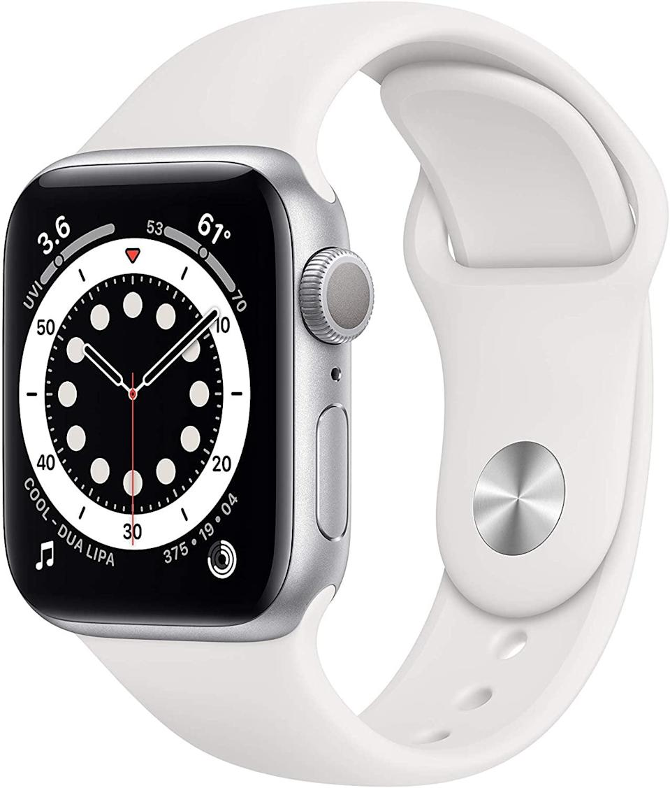 """<p><strong> The Tracker: </strong> <span>Apple Watch</span> ($349, originally $399)</p> <p><strong> The Rating: </strong> 4.8 stars </p> <p><strong> Why People Love It: </strong> It's a true all in one device, especially if you already have an iPhone. A devoted Andriod user wrote, """"I've never used an Apple Watch before, so I thought I'd give it a try. Boy was I impressed! This watch has a built-in microphone that can hear water running and when it does, it counts down for you to make sure you wash your hands for 20 seconds. It also has exercise goals you can set, and not just the traditional ones. I have one that reminds me to stand and stretch for example. I was really leery about switching over to an Apple watch, but I am sure glad I did. Apple, you have a new convert.""""</p>"""