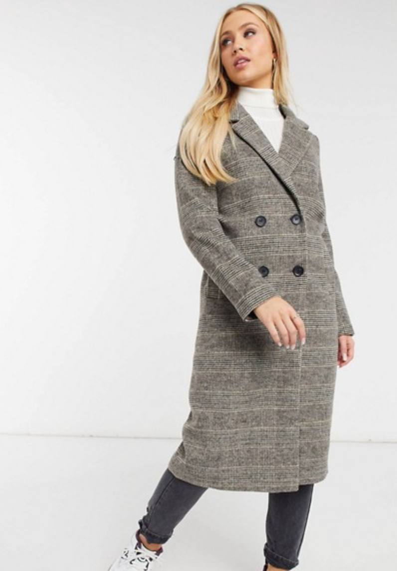 This brown wool-blend coat from ASOS is less than $150 - an affordable option that delivers the same Middleton-inspired look.
