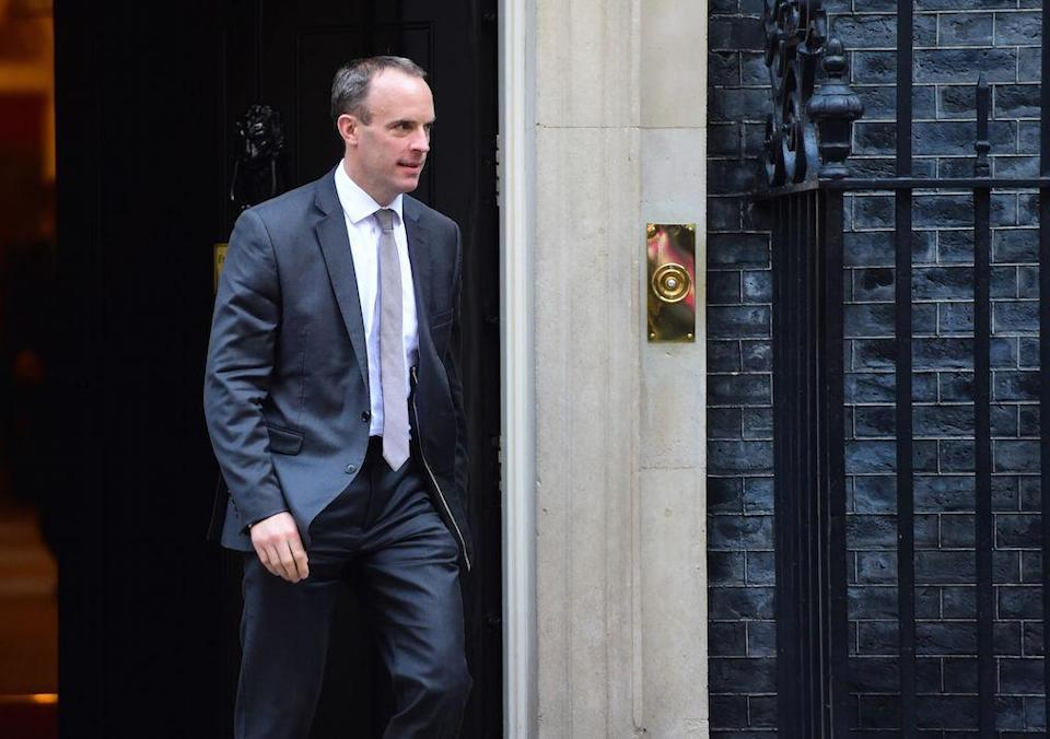 Brexit secretary Dominic Raab was in Brussels at the weekend for ill-fated talks with the EU (Picture: PA)