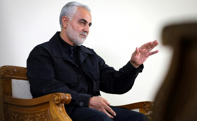 Top Iranian commander Qasem Soleimani, who headed the elite Revolutionary Guard Quds Force and served as Iran's pointman on Iraq, was killed in a US strike on Baghdad airport (AFP Photo/-)