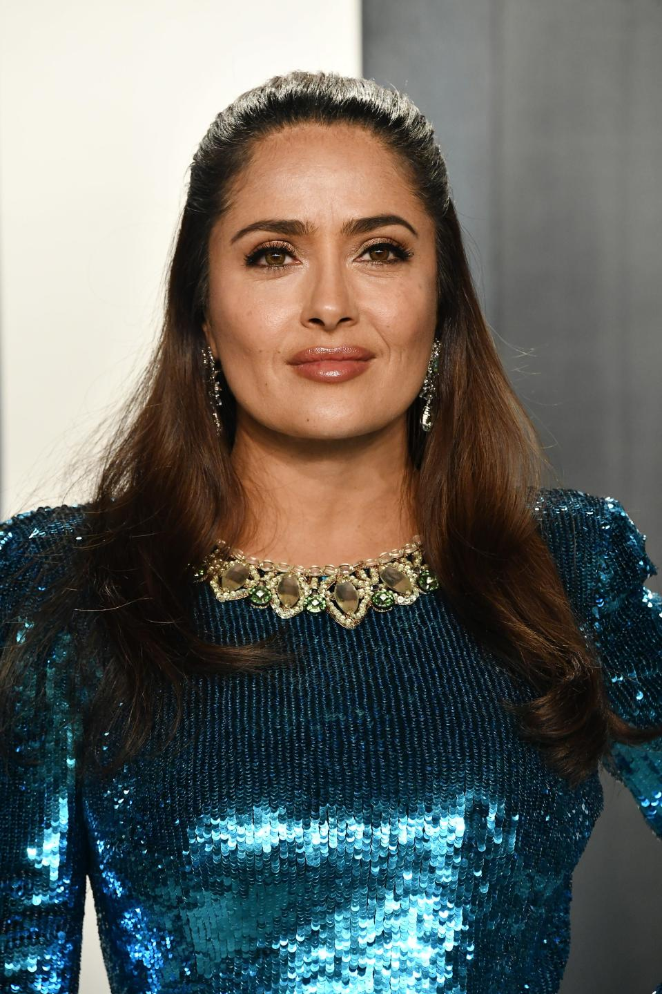 Salma Hayek Can't Stop Taking Makeup-Free Selfies, and Fans are Loving It