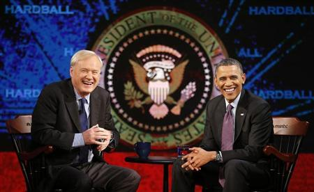 "U.S. President Obama appears on ""Hardball with Chris Matthews"" in Washington"