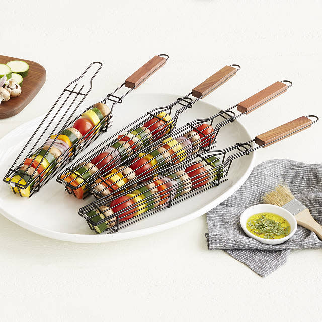 Kabob Grilling Baskets (Photo: Uncommon Goods)