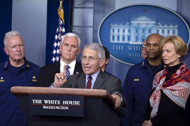 PHOTO: Anthony Fauci, Director of the National Institute of Allergy and Infectious Diseases, speaks to the media in the press briefing room at the White House, March 15, 2020. (Tasos Katopodis/Getty Images)