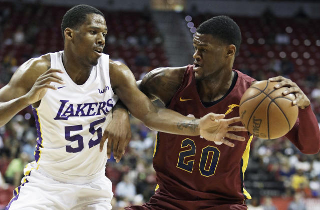 Former Kansas recruit Billy Preston (right) has been competing for a roster spot with the Cavaliers. (AP)