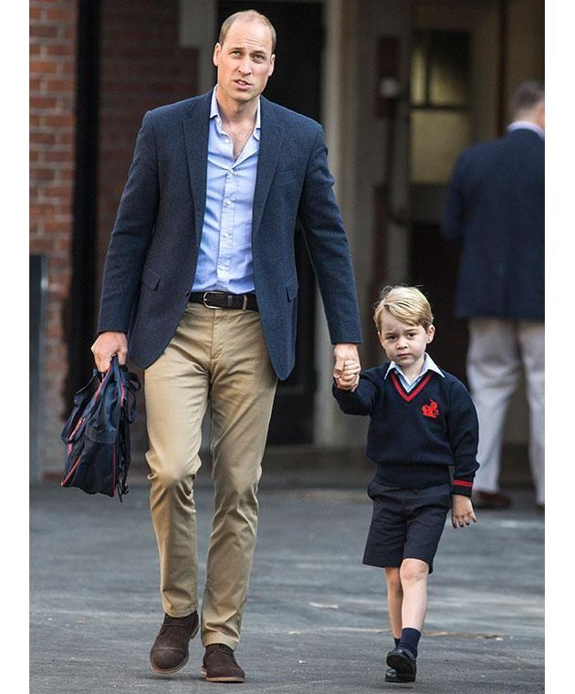 George started at the West London school last week. Photo: Getty