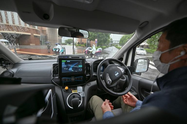 With an ageing population in need of transport, Japan is betting on autonomous cars (AFP/Kazuhiro NOGI)