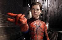 """The upside down kiss between Spider-Man and Mary Jane will always be memorable. The 2002 film starred actors Tobey Maguire and Kirsten Dunst. The rain added to the steamy kiss but the actors had other thoughts about the scene. Maguire told Parade magazine: """"I was hanging upside down, it was really late at night, it was raining, and the whole time I had rainwater running up my nose. Then, when Kirsten rolled back the wet mask, she cut off the air completely."""""""