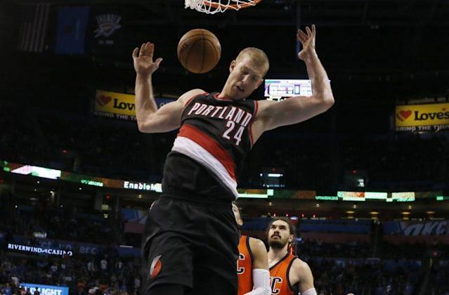 Mason Plumlee is in his fourth NBA season. (AP)